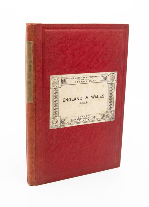 Map of Canals and Navigable Rivers of England and Wales, by Lionel B. Wells, Manchester & London: G.