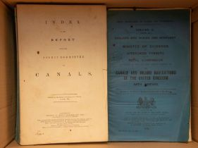 Royal Commission on Canals and Inland Navigations of the United Kingdom, volumes 1 to 10, London: