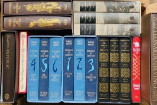 Folio Society. Collection in slipcases, some sets, predominantly history, biography, philosophy,
