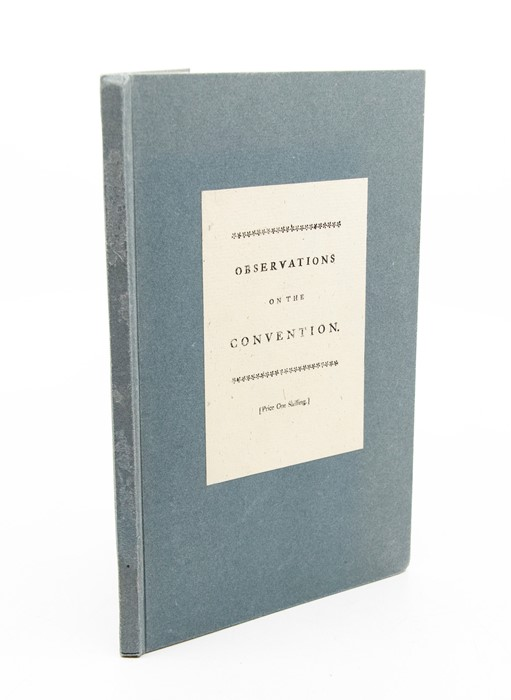 [Robins, Benjamin]. Observations on the Present Convention with Spain, London: T. Cooper, 1739.