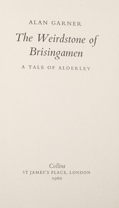 Garner, Alan. The Weirdstone of Brisingamen, first edition, London: Collins, 1960. Octavo, - Image 2 of 2