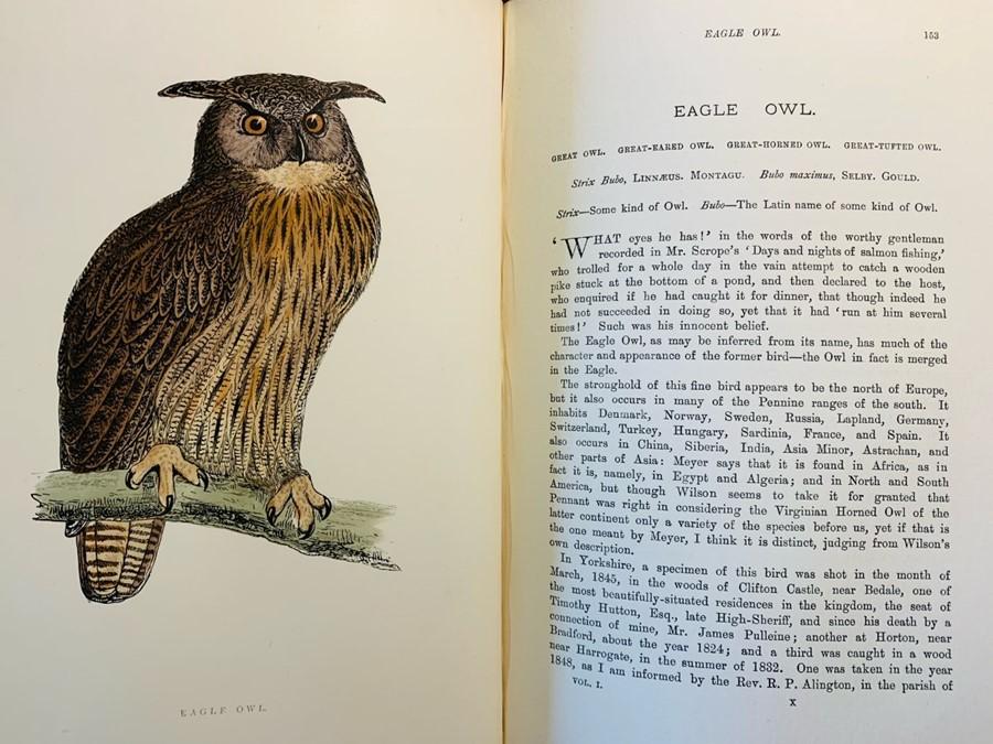 Morris, Rev. F. O. A History of British Birds, fourth edition, in six volumes, London: John C.