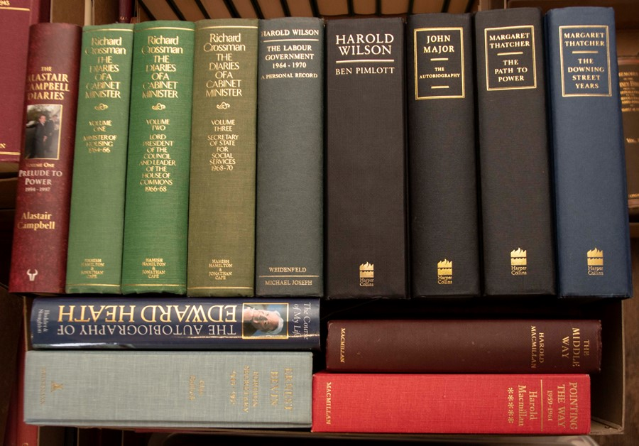 British Politics. Collection of books, history of politics and biographies of politicians, to