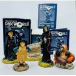 Clarecraft. Terry Pratchett's Discworld Characters. Collection of five figurines: Librarian with