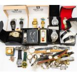 A collection of ladies and gents dress watches to include a gents vintage Timex, a Sekonda pocket