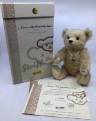 Steiff limited edition Freindship Bear 661952. Certificate number 01699. With silver locket (some
