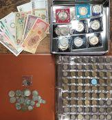 British Coin Collection includes Pre 47 & Pre 20 Silver, 2 x 1946 & 1949 brass Threepence, quantity