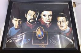 Star Trek: collection of framed and signed prints and first day covers, along with a Rubies tunic