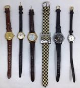 Watches: A collection of vintage watches to include: Rotary Ladies gilt watch and bracelet set,