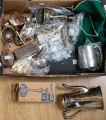 *****WITHDRAWN***** A collection of silver plate to include: coffee pot, pair of Georgian style