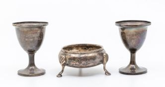 *****WITHDRAWN***** Two 19th Century Irish silver egg cups, maker's James le Bas & William Nolan,