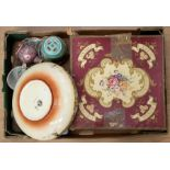 """A collection of ceramics to include a vintage Royal Crown Derby """"Derby Posies"""" two piece tea set"""