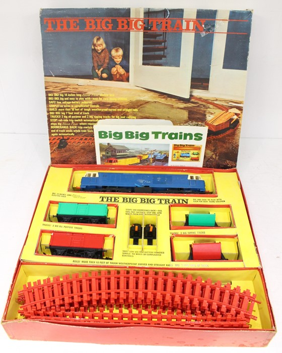 LGB: A boxed LGB, The Big Big Train Set, complete, comprising locomotive, two trucks, two tipping