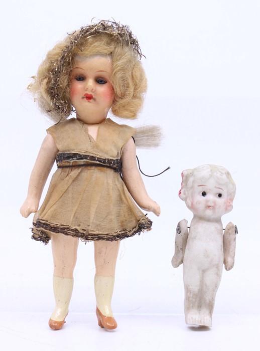 Armand Marseille: A small Armand Marseille composition doll, Christmas Fairy, marked to head, A 16/0