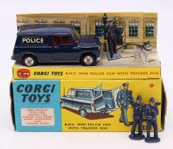 Corgi: A boxed Corgi Toys, B.M.C. Mini Police Van with Tracker Dog, 448, complete, with inner