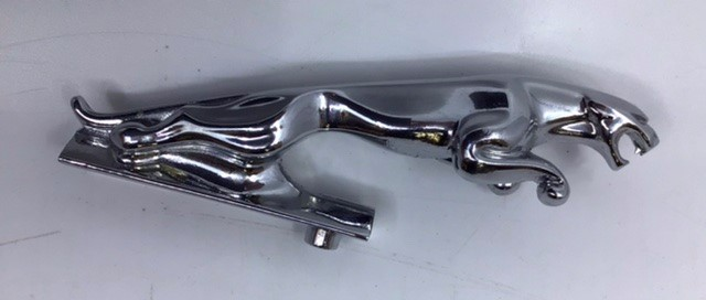 Jaguar: Two Jaguar Leaping Cat mascots, one chrome and one unusual copper plated. Both have serial - Image 3 of 3