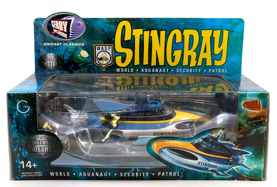 Gerry Anderson: A boxed Gerry Anderson: Stingray World Aquanaut Security Patrol Vehicle, Made by