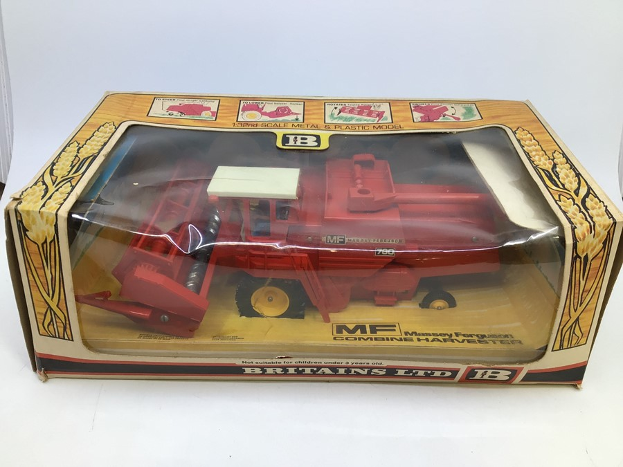 Britains: A collection of assorted Britains to include: Massey Ferguson Combine Harvester 9570, - Image 2 of 4