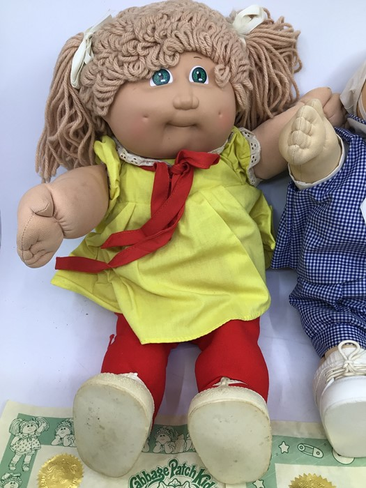 Cabbage Patch Kids: two hard face 1980's dolls with birth certificates, Malina Raquel and - Image 2 of 3