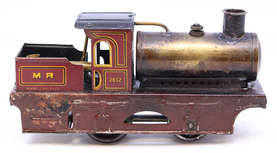 Bing: A boxed, early 20th century, Bing, live steam locomotive, 0-4-0, No. 2632, M.R., maroon livery - Image 3 of 4