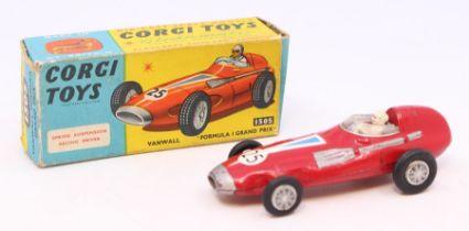 Corgi: A boxed Corgi Toys, Vanwall Formula 1 Grand Prix, 150S, red body, #25, original box, wear