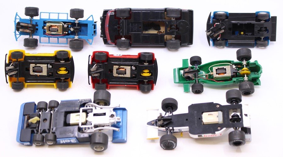 Scalextric: A collection of assorted unboxed Scalextric to include: C051 BRM; Mad Hatter Mini; TR7 - Image 2 of 3