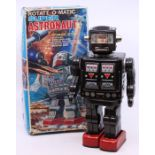 Horikawa: A boxed Horikawa, battery operated, tinplate, Rotate-o-Matic, Super Astronaut: Automatic