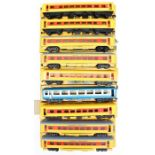 Big Big Train: A collection of nine boxed Rovex, O Gauge coaches to include Union Pacific