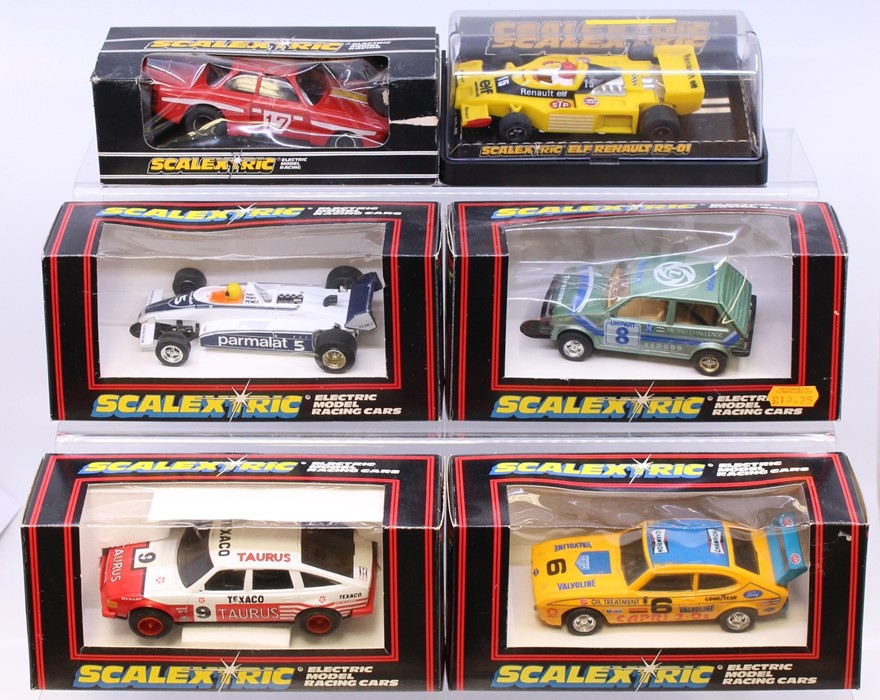 Scalextric: A collection of six boxed Scalextric vehicles to comprise: Taurus Rover 3500 C384;