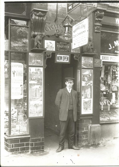 """Marshall & Sons: An early 20th century, Marshall & Sons, Oxford St, Ripley, enamel sign, """"Now - Image 4 of 5"""
