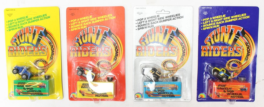 Stunt Riders: A trade box containing twelve LJN, Stunt Riders carded vehicles, Made in Macau, some - Image 2 of 2