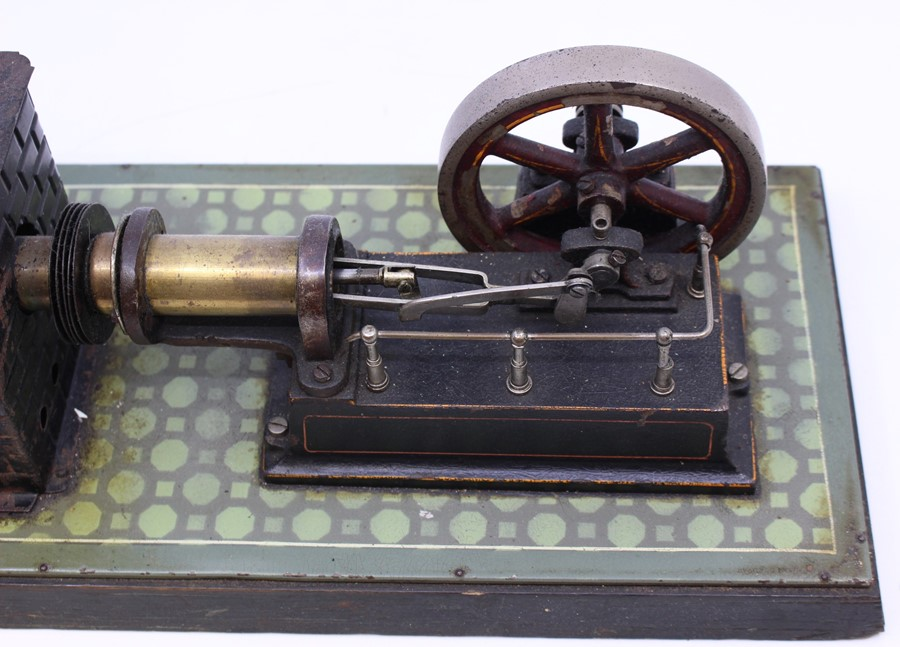 Live Steam: An early 20th century, horizontal live steam, stationary engine, single cylinder, - Image 3 of 3