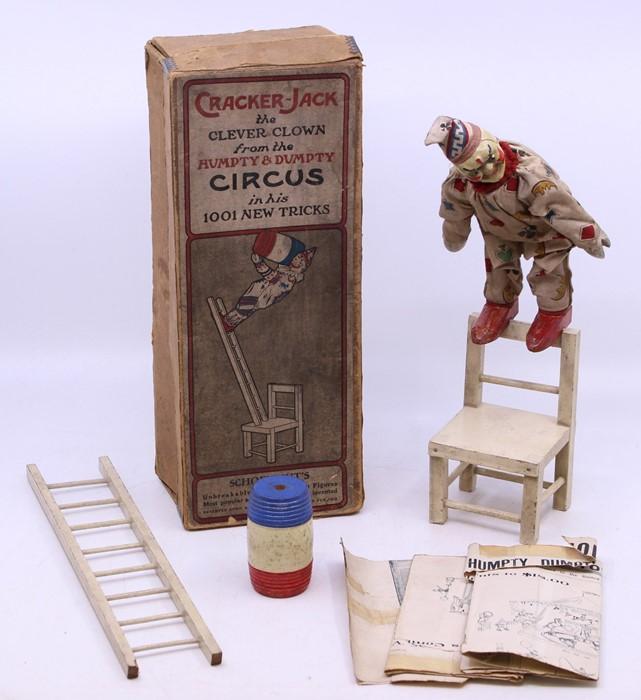 Schoenhut: A boxed Schoenhut Wonder Toy, Cracker-Jack the Clever Clown from the Humpty & Dumpty