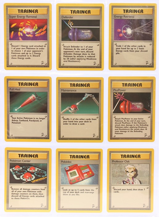 Pokemon: A completePokemon Base Card Set 2, comprising 130 cards, plus an additional Wartortle ( - Image 13 of 17
