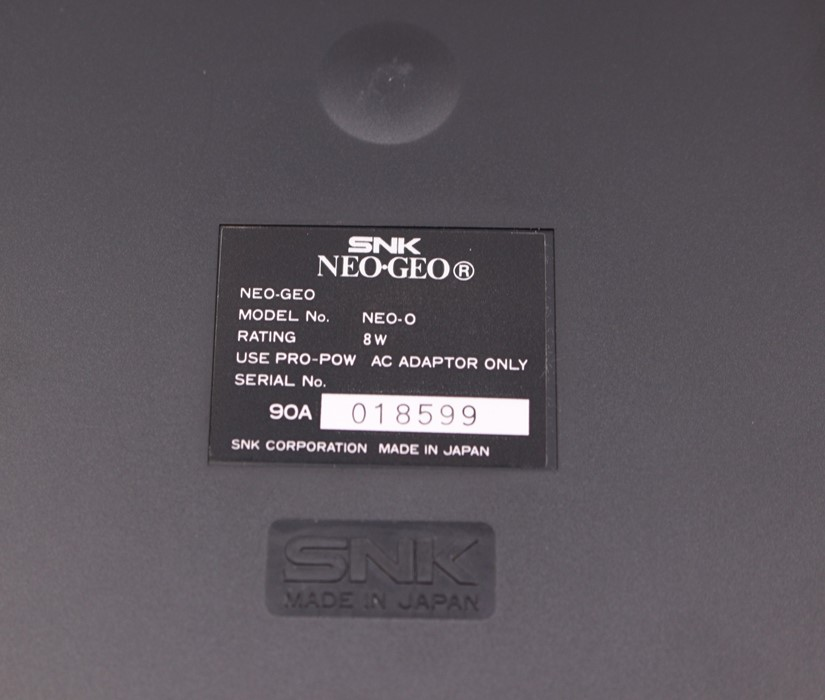 Neo Geo: A boxed Neo Geo Advanced Entertainment System Console, complete with certificate matching - Image 4 of 6
