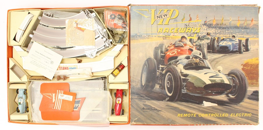 VIP Raceways: A boxed 'New' VIP Raceways, Remote Controlled Electric, Set R1, missing one small