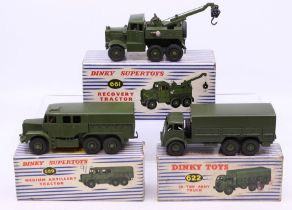 Dinky: A collection of three boxed Dinky military vehicles to comprise: Dinky Supertoys, Recovery