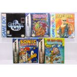 Gameboy: A collection of five boxed Gameboy games to comprise: Casper, with instruction booklet;