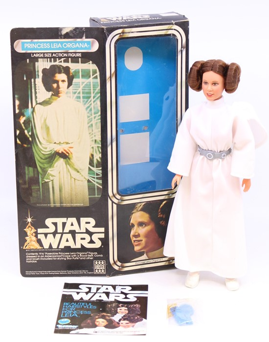 """Star Wars: A boxed Star Wars, Large Size Action Figure, Princess Leia Organa, 11.5"""" poseable figure,"""