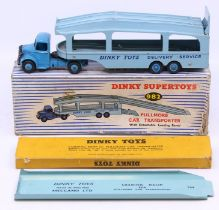Dinky: A boxed Dinky Supertoys, Pullmore Car Transporter with Detachable Loading Ramp, 982, complete