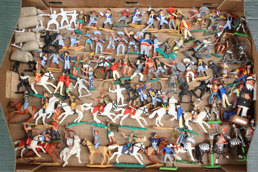 Figures: A collection of assorted Britains and Timpo plastic figures to include soldiers, - Image 2 of 3