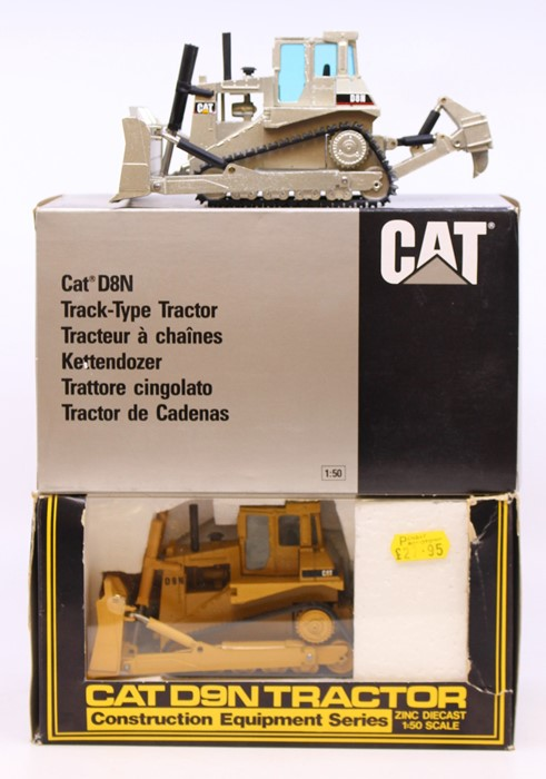 Diecast: A collection of three boxed diecast models to comprise: NZG, Caterpillar D8N, Track-Type