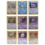 Pokemon: A Pokemon Fossil Set, comprising 62 cards, 60/62 in the set, plus an additional Articuno (