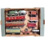 Hornby: A collection of assorted O gauge model railway to include: LNER, 0-4-0, 1368 locomotive,