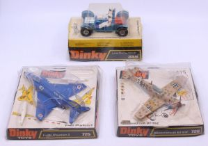 Dinky: A collection of three bubble packaged Dinky Toys to comprise: Lunar Roving Vehicle, 355; F-4K
