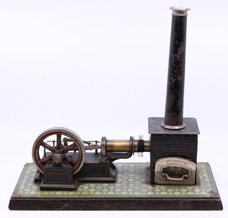Live Steam: An early 20th century, horizontal live steam, stationary engine, single cylinder,