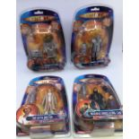 Dr Who: A collection of Dr Who action figures to include D84 Robot, Zygon, SV7 Robot, The Fifth
