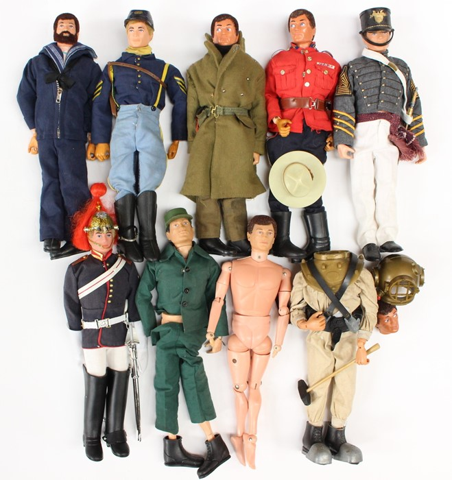 Action Man: A collection of assorted unboxed Action Man figures, including three with 'Eagle