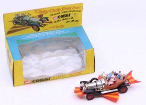 Corgi: A boxed Corgi Toys, Chitty Chitty Bang Bang, 266, vehicle is complete, box window crushed