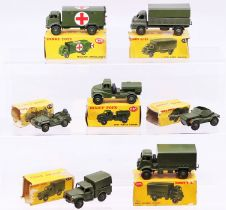 Dinky: A collection of seven boxed Dinky Toys military vehicles to comprise: Army Water Tanker, 643,